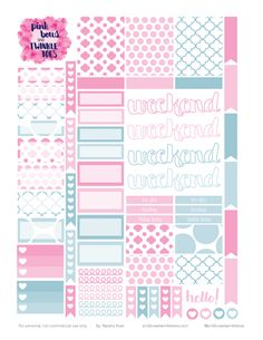 FREE May Functional Sticker Planner Stickers by Pinkbow & Twinkle toes