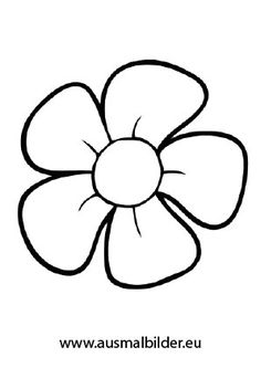 coloring page for kids - Ausmalbilder/Windowcolor - Meatloaf Diy Embroidery Flowers, Simple Embroidery Designs, Hand Embroidery Stitches, French Knot Embroidery, Flower Pattern Drawing, Flower Outline, Flower Pattern Design, Flower Coloring Pages, Coloring Pages For Kids