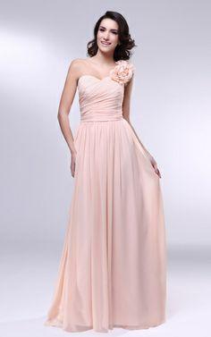Summer Fall Thin One Shoulder Draped Mid Back Fancy Spring Flowers  Bridesmaid Dress Chiffon 8b79a1c9ba3