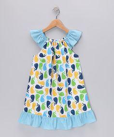 Blue Whale Angel-Sleeve Dress - Infant #zulily #zulilyfinds