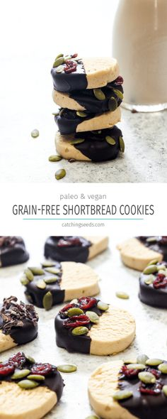 These 5-ingredient Grain-Free Shortbread Cookies are both paleo and vegan but taste JUST like the original. This easy recipe is the perfect addition to your cookie tray of desserts.   CatchingSeeds.com