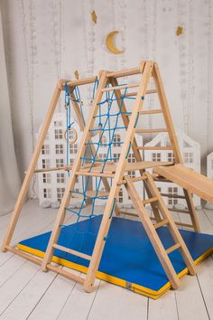 Indoor home Projects - Panda Playground Indoor Jungle Gym Toddler Jungle Gym, Indoor Jungle Gym, Indoor Gym, Jungle Gym Ideas, Indoor Toddler Gym, Toddler Bed, Kids Indoor Playground, Plastic Playground, Playground Toys