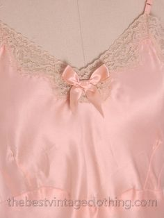 Lovely Vintage Lingerie Peach Rayon Satin Full by BestVintageEver