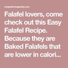 Falafel lovers, come check out this Easy Falafel Recipe. Because they are Baked Falafels that are lower in calories than their traditional fried counterpart. Double or triple this recipe and serve as a starter at your foodie gatherings. Vegan and gluten-free.