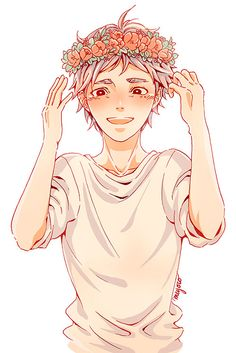 anime girls with flower crowns - Google Search