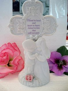Precious Moments wedding cross figurine Hand by ALEXLITTLETHINGS
