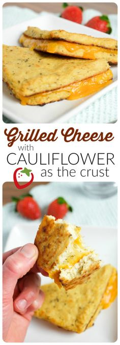 FOOD - Grilled Cheese with Cauliflower Bread   Super Healthy Kids   Food and Drink http://www.superhealthykids.com/grilled-cheese-cauliflower-crust/