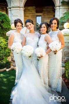 gorgeous bridal party | Jaton couture | annessia bridesmaids | vesna grasso florals