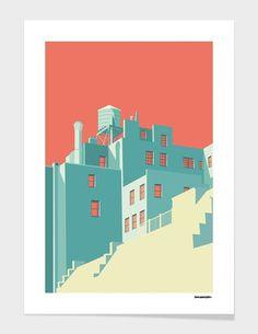 Fancy - The Village, Fine Art Print by Remko Heemskerk