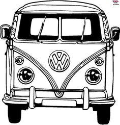 VW Bus Coloring Pages Printable. VW bus is the second line of the motor vehicle presented by the German car manufacturer Volkswagen, in Volkswagen Bus, T3 Vw, Volkswagen Transporter, Volkswagen Beetles, Kombi Motorhome, Campervan, Wolkswagen Van, Kombi Hippie, Van Drawing