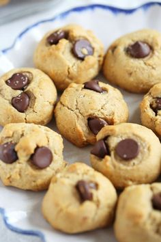 Healthy Chocolate Chip Cookies   Eat Yourself Skinny!   Bloglovin'