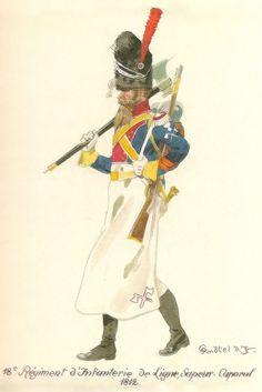 18ème Rgt d'Infanterie de Ligne, Sapeur-Caporal 1812