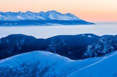 Sunrise Over Dumbier Peak High Tatras, Homeland, Mount Everest, Sunrise, Shots, Explore, Mountains, Amazing, Winter
