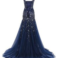 long prom dress, navy prom dress, mermaid prom dress, sparkle prom dress, party prom dress, prom dress gown, E285 · lovebridal · Online Store Powered by Storenvy Navy Prom Dresses, Mermaid Prom Dresses, Prom Party Dresses, Dress Prom, I Dress, Short Dresses, Formal Dresses, Brides Mom Dress, Short Prom