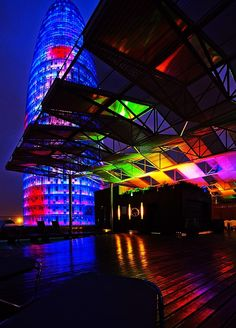 Colors, Torre Agbar, Barcelona (Spain)