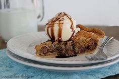 Peanut Butter and Milk Chocolate Chip Cookie Pie