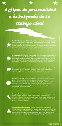 6 tipos de personalidad a la busca del trabajo ideal #infografia