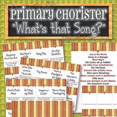 Primary Chorister What's that Song Game Lds Primary Songs, Primary Singing Time, Primary Music, World Happiness, Fun Christmas Games, Primary Chorister, Powerpoint Format, Time Games, Fun Songs