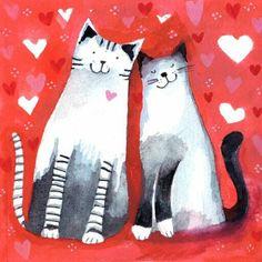 Gaticos enamorados.
