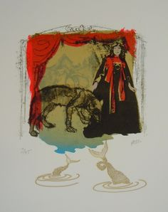Emma Molony 'Wendy & the Wolf' - 'Dark Tales', A Llantarnam Grange Arts Centre Touring Exhibition 29.03.14 - 17.05.14