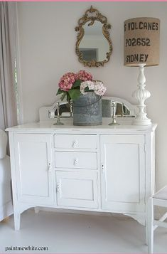 Shabby Chic #cottage  #country  #interiors  #furniture  #white