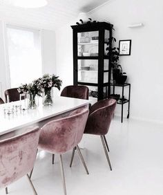 Dear design lover, are you ready for 10 Design Chairs For Your Modern Dining Room? Dining tables are important, they are the center of the dining room, but some modern dining chairs will light up your Home Interior, Interior Decorating, Interior Design, Purple Interior, Interior Styling, Dining Room Design, Dining Room Chairs, Office Chairs, Dining Tables