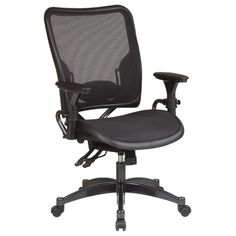 Office Star SPACE Dual Function Mid-Back Office Chair with Arms $375