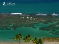 Exotic Escape Under The Brazilian Sun: Nannai Beach Resort in Porto de Galinhas - Pernambuco Nannai Resort & Spa, Sail Away, Find Hotels, Hostel, Beach Resorts, Brazil, Golf Courses, Sailing, Exotic