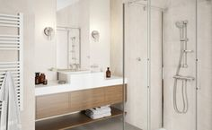 Aranżacja łazienki w jasnej tonacji Fot.: Ferro