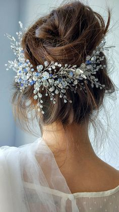 Long weave Accessories Crystal Swarovski hair vine Wedding