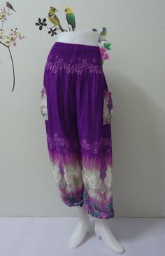 Purple genie pant really awesome Etsy listing at https://www.etsy.com/listing/199907049/purple-harem-women-trouser-ali-baba
