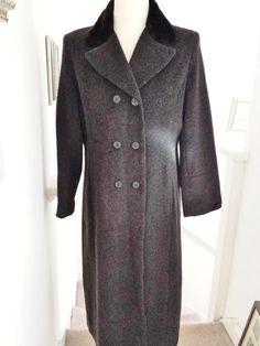 Wool Mohair Coat Faux Fur Collar Womens Ladies Under Wraps 14 -16 Grey 25% OFF!