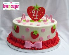 Strawberry Shortcake Buttercream Cakes Love & sugar kisses: <b>strawberry shortcake</b> {inspired} <b>cake</b>
