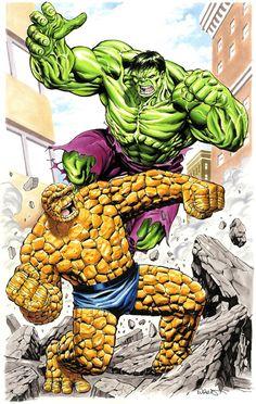 #Hulk #Fan #Art. (Hulk vs Thing) By: Kevin West. (THE * 5 * STÅR * ÅWARD * OF: * AW YEAH, IT'S MAJOR ÅWESOMENESS!!!™)[THANK Ü 4 PINNING<·><]<©>ÅÅÅ+ 8. 1