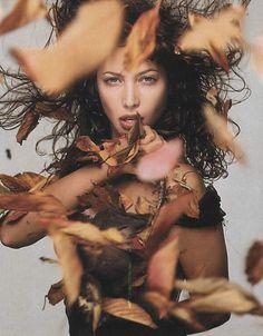 Pirelli Calendar, October 1995  Photographer: Richard Avedon  Model: Christy Turlington