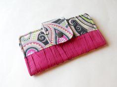 Bifold Wallet Women's Wallet iPhone Wallet Checkbook by ThePurseCo #bifoldwallet #womenswallet #wallet