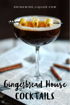 It's that time of the year again when building Gingerbread houses are seasonally appropriate, and we couldn't be more excited. We're here to help you rejoice and reign in the #holiday with a few #gingerbread inspired #cocktails!