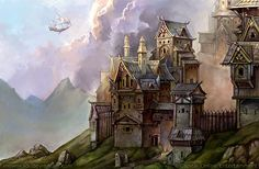 Norren by SnowSkadi.deviantart.com on @DeviantArt  This could be the city of Minette??  I like this image man this artist is freaking amazing :)