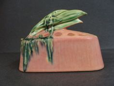 Roseville Pottery Pink Moss Flower Frog
