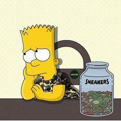 """The Simpsons as Sneakerheads"" - New Illustrations by Artist Olga Wójcik Simpsons Characters, Simpsons Art, Hype Wallpaper, Iphone Wallpaper, Where Is My Money, Supreme Wallpaper, Sneaker Art, Sneaker Heads, Dope Art"