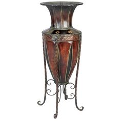ABCHomeCollection Old World Tuscan Metal Vase & Reviews | Wayfair