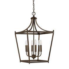 Simple Pagoda Lantern - 6 Light