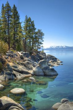 The 30 Most Beautiful Places in America — Beautiful Places in USA Lake Tahoe, California California Camping, Tahoe California, Beautiful Vacation Spots, Beautiful Beaches, Lac Tahoe, Beautiful Places In America, Beautiful Places In California, Vacation Destinations, Vacation Trips