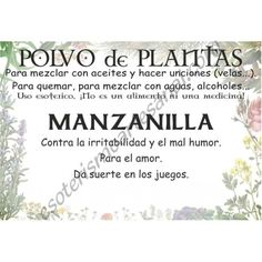 Polvo de Manzanilla