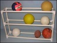 PVC garage - ball organizer