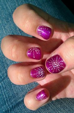 Gelish/Starburst gel color with nail art