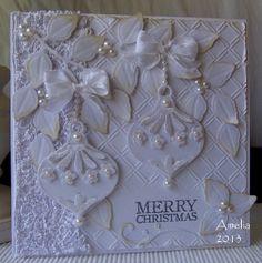 Christmas Card- white on white