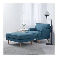 IKEA - STOCKSUND, Fauteuil, Ljungen blauw, lichtbruin, , Extra brede en diepe fauteuil met voldoende plaats om comfortabel en ontspannen te zittenJe krijgt extra zacht comfort en steun omdat het dikke kussen een kern van pocketveren en een bovenlaag van gesneden foam en polyestervezels heeft.De kern van pocketveren is slijtvast en behoudt langdurig zijn vorm en zachte comfortDe overtrek is afneembaar en machinewasbaar en dus eenvoudig schoon te houden.Gratis 10 jaar garantie. Raadpleeg onze…