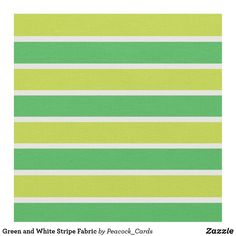 Green and White Stripe Fabric