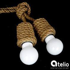 Lampa z jutą. Projekt: StyLova. Do kupienia w atelio.pl. #StyLova #Atelio #lamps #design